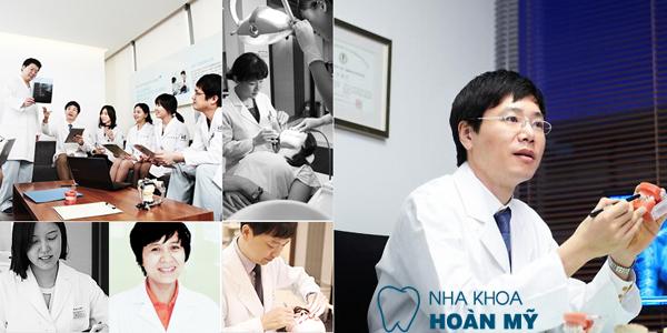 Đội ngũ bác sỹ nha khoa chuyên môn cao tại Hoàn Mỹ