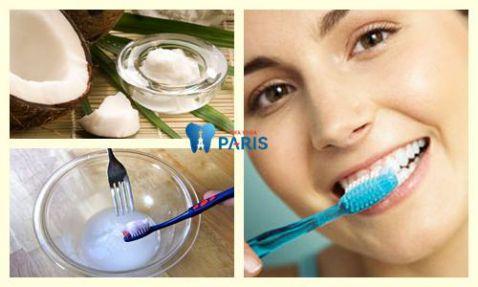 Đánh răng bằng dầu dừa làm sạch cao răng khử mùi hôi miệng 2