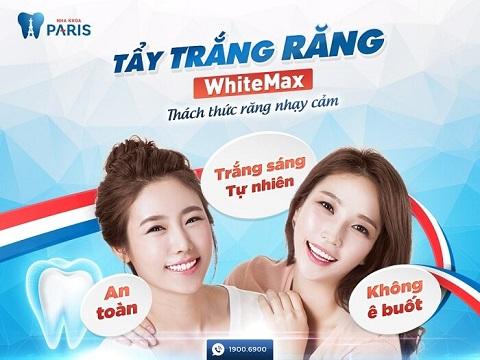 Tẩy trắng răng có đau không với công nghệ WhiteMax