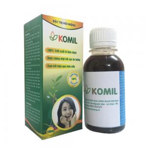 Tìm hiểu thông tin chi tiết của thuốc trị hôi miệng Komil